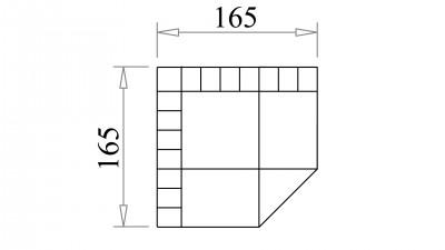 Monza 165 cm Köşe Modül